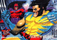 Max Eisenhardt (Earth-616) and James Howlett (Earth-616) from Ultra X-Men (Trading Cards) 1995 Set 001