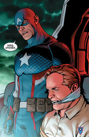 Steven Rogers (Earth-61311) and Erik Selvig (Earth-616) from Captain America Steve Rogers Vol 1 1 001