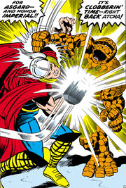 Thor Odinson (Earth-616) vs the Thing from Fantastic Four Vol 1 73