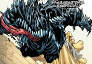 Venom (Klyntar) (Earth-TRN574) and Piotr Rasputin (Earth-616)'s Fastball Special from Extraordinary X-Men Vol 1 10 001