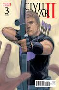 Civil War II Vol 1 3 Hawkeye Variant