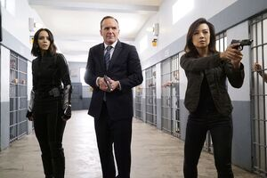 Daisy Johnson (Earth-199999), Phillip Coulson (Earth-199999) and Melinda May (Earth-199999) from Marvel's Agents of S.H.I.E.L.D. Season 4 5 001
