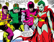 Frightful Four (Earth-616) Trapster, Sandman, Wizard, Llyra from Amazing Spider-Man Vol 1 214