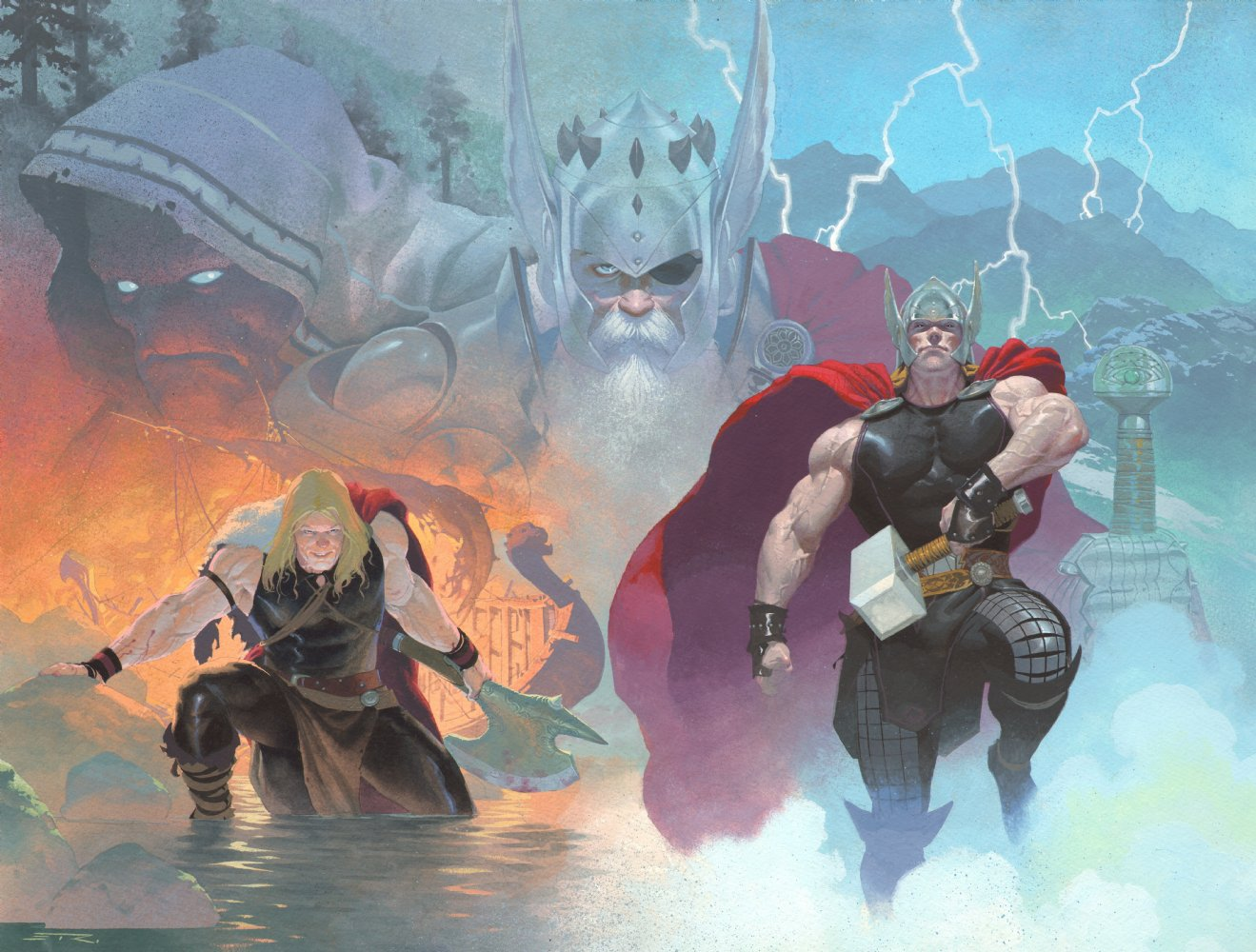 Thor God of Thunder Vol 1 1 and 2 Textless.jpg