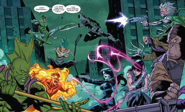 File:Tribe (Inhumans) (Earth-TRN621) vs. Mercs for Money (Earth-TRN621) from Deadpool & the Mercs for Money Vol 2 7 001.jpg