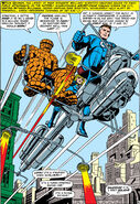 Fantastic Four aboard the Sky-Cycle from Fantastic Four Vol 1 45