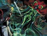 Hela (Earth-616) with Nightsword from Avengers Prime Vol 1 2 001