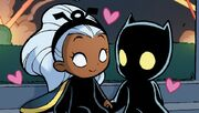 T'Challa (Earth-71912) and Ororo Munroe (Earth-71912) from A-Babies vs. X-Babies Vol 1 1 001