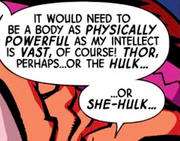 Thor Odinson (Earth-8096), Bruce Banner (Earth-8096), and Jennifer Walters (Earth-8096) from Marvel Universe Avengers - Earth's Mightiest Heroes Vol 1 8
