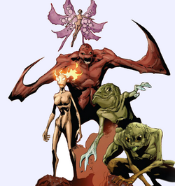 Five Lights (Demons) (Earth-616) from Uncanny X-Men Vol 2 13 0003