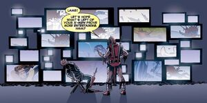 Wade Wilson (Earth-12101) and Charles Xavier (Earth-12101) from Deadpool Kills the Marvel Universe Vol 1 3 001