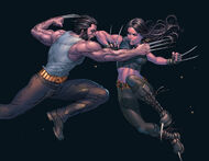 James Howlett (Earth-616) and Laura Kinney (Earth-616) from X-23 Target X Vol 1 6 0001