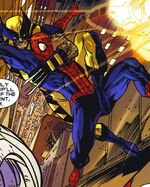 James Howlett (Earth-14850) and Peter Parker (Earth-14850) from What If Wolverine Enemy of the State Vol 1 1 0001