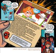 Arcade (Earth-616) on Deadpool's Guide to Super Villains Cards from Marvel Rising Ms. Marvel Squirrel Girl Vol 1 1