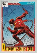 Daredevil's Billy Club from Marvel Universe Cards Series II 0001