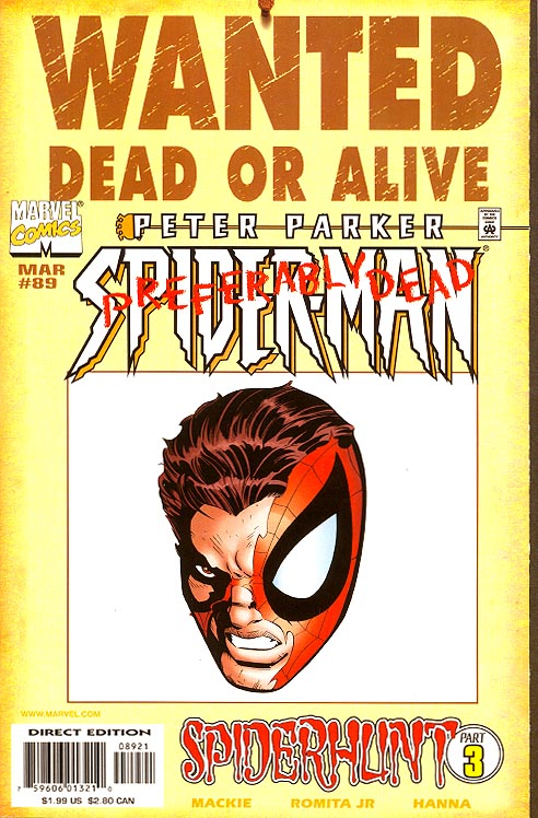 Spider Man Vol 1 89 Wanted Poster Variant