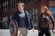Steven Rogers (Earth-199999) and Natasha Romanoff (Earth-199999) from Captain America The Winter Soldier 002
