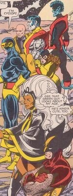 X-Men (Earth-7642) from Uncanny X-Men and The New Teen Titans Vol 1 1 001