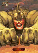 Aleksei Sytsevich (Earth-616) from Marvel Masterpieces Trading Cards 1994 Set 0001