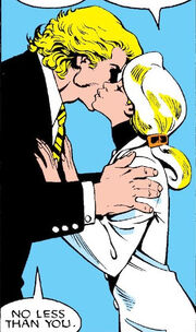 Brian Braddock (Earth-616) and Courtney Ross (Earth-616) from Excalibur Vol 1 1 0001
