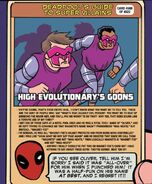 High Evolutionary Goon (Earth-616) on Deadpool's Guide to Super Villains Cards from Unbeatable Squirrel Girl Beats Up the Marvel Universe! Vol 1 1