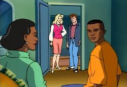 Mrs. Farrell (Earth-92131), Felicia Hardy (Earth-92131), Peter Parker (Earth-92131), and Robert Farrell (Earth-92131) from Spider-Man The Animated Series Season 3 5 0001