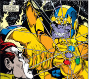 Thanos (Earth-616) and Eros (Earth-616) from Infinity Gauntlet Vol 1 2 0001