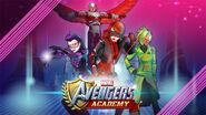 Katherine Bishop (Earth-TRN562), Samuel Wilson (Earth-TRN562), Natasha Romanova (Earth-TRN562) and Viv (Earth-TRN562) from Marvel Avengers Academy 001