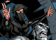 Sooraya Qadir (Earth-616) and Santo Vaccarro (Earth-616) from New X-Men Vol 2 30 0001