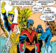Katherine Pryde (Earth-616) and New Mutants (Earth-616) from Excalibur Vol 1 8 0001