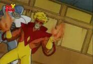 Dominikos Petrakis (Earth-92131) and St. John Allerdyce (Earth-92131) from X-Men The Animated Series Season 1 9 007