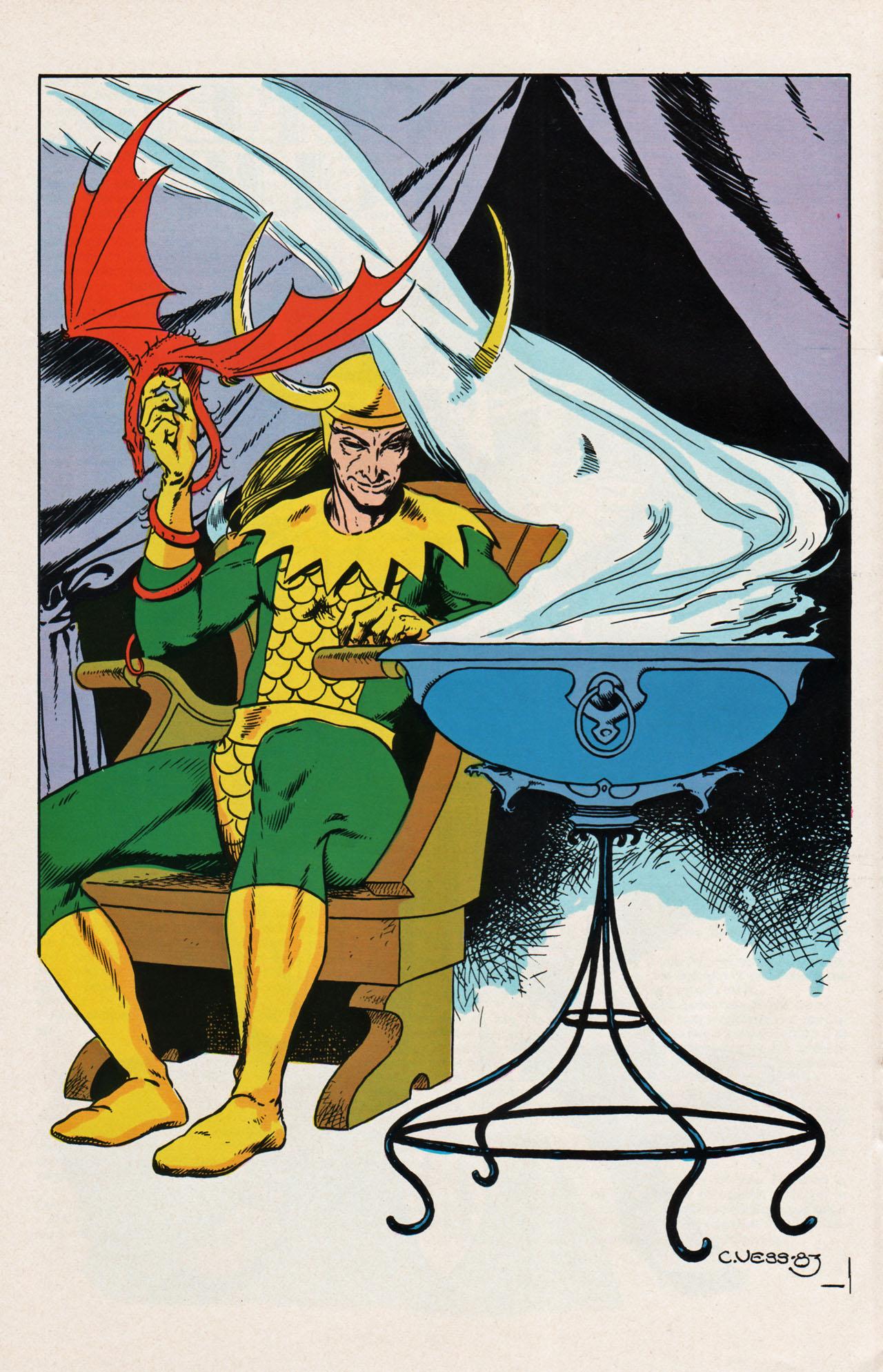 Loki Laufeyson (Earth-616) Pin-Up from Marvel Fanfare Vol 1 20 0001