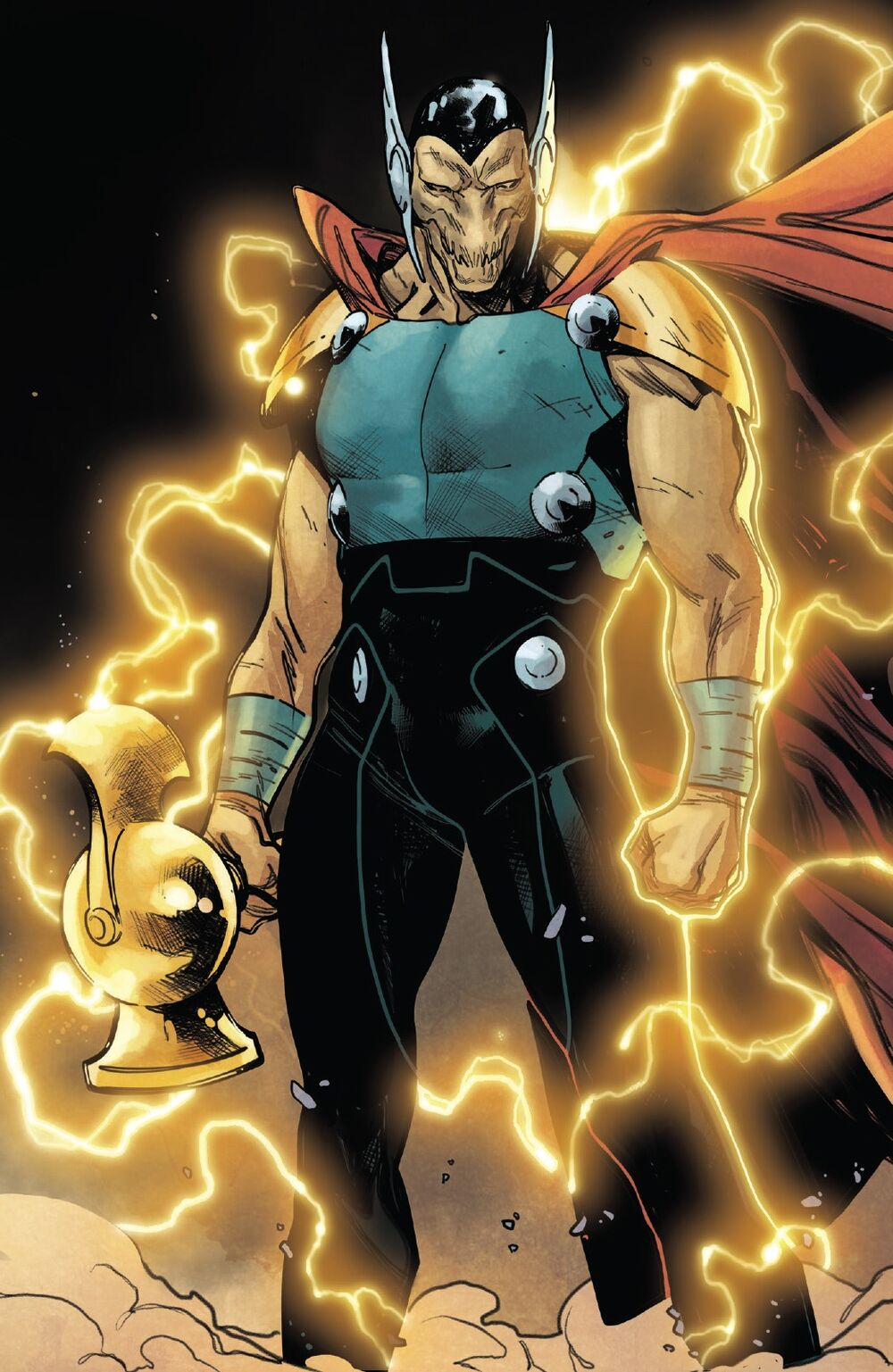 Bill Raio Beta com Mjolnir. (Fonte: Marvel Comics)