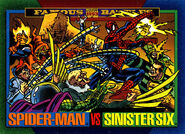 Peter Parker (Earth-616) and Sinister Six (Earth-616) from Marvel Universe Cards Series IV 0001