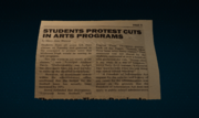 Eugene Thompson (Earth-1048) and Sally Avril (Earth-1048) Newspaper mention from Marvel's Spider-Man (video game) 001