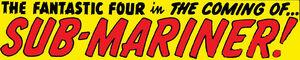 Fantastic Four Vol 1 4 0001 Title