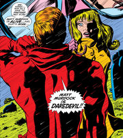 Matthew Murdock (Earth-616) reveals his identity to Karen Page in Daredevil Vol 1 58