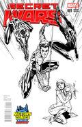 Secret Wars Vol 1 1 Midtown Comics Sketch Variant