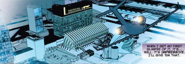 File:Serval Industries (Earth-616) from All-New X-factor Vol 1 1.jpg