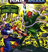 Steve Rogers (Earth-616) Captain America versus the Cosmic Cube powered Red Skull from Tales of Suspense Vol 1 80