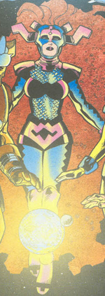 Medusalith Amaquelin (Earth-8734) from Marvel Knight Millennial Visions Vol 1 2001
