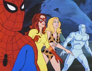 """Peter Parker (Earth-8107), Angelica Jones (Earth-8107), Shanna O""""Hara (Earth-8107), and Robert Drake (Earth-8107) from Spider-Man and His Amazing Friends Season 1 6 001"""