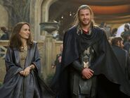 Thor Odinson (Earth-199999) and Jane Foster (Earth-199999) from Thor The Dark World 0004
