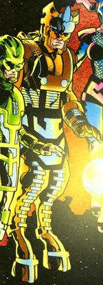 Gorgon Petragon (Earth-8734) from Marvel Knights Millennial Knights Vol 1 2001 0001