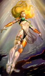 Namorita Prentiss (Earth-616) from 1996 Marvel Masterpieces (Trading Cards) 0001