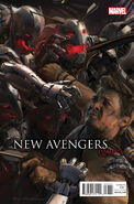 New Avengers Vol 3 33 AU Movie Connecting Variant D