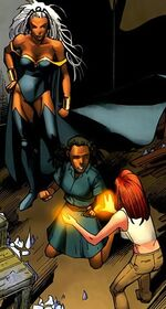 Ororo Munroe (Earth-616), Idie Okonkwo (Earth-616), and Hope Summers (Earth-616) from Uncanny X-Men Vol 1 528 0001