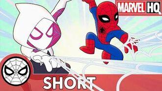 "Spidey and Gwen ""Book It"" After Rhino Marvel Super Hero Adventures - Bend, Don't Break SHORT"