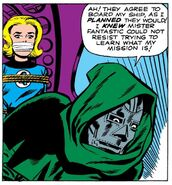 Victor von Doom (Earth-616) and Susan Storm (Earth-616) from Fantastic Four Vol 1 5 0001