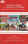 Avengers Thor & Captain America Official Index to the Marvel Universe Vol 1 1